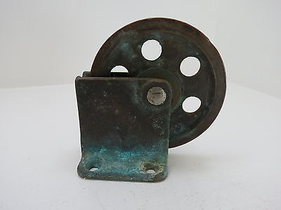 4+3/8 Inch Bronze Single Deck Pulley Block Boat Ship Brass Tackle (#218)