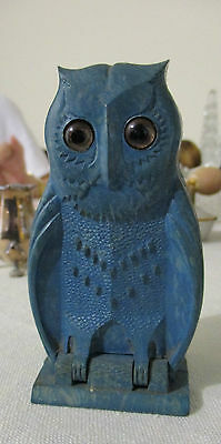 Vintage Bourjois Owl Perfume Case with Perfume Bottle - Made In England