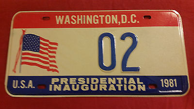 1981 District Of Columbia 02 Inaugural License Plate