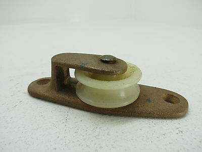 1+1/4 Inch Bronze Nylon Deck Pulley Block Boat Ship Brass Block Tackle (#223)