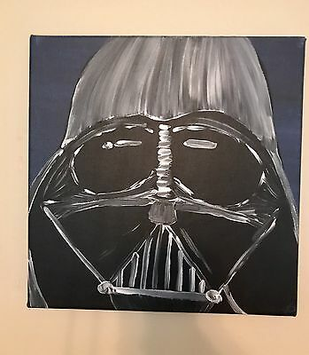 Star wars painting for room   Darth Vader 12x12   Great for boys room