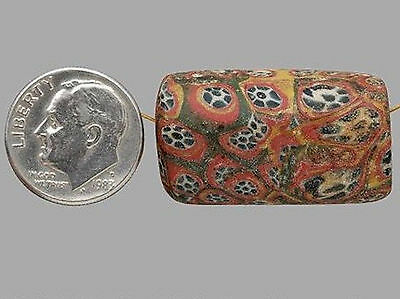 Rare Ancient Roman Mosaic Bead ~ c. 100 BC-  400 AD - Large 29.73mm x 16.89mm