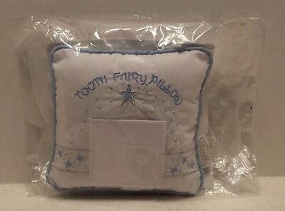 Stephan Baby Keepsake Embroidered Tooth Fairy Pillow, Blue