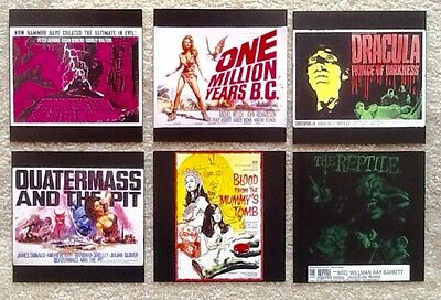 6 Hammer Horror Poster reproduction postcards