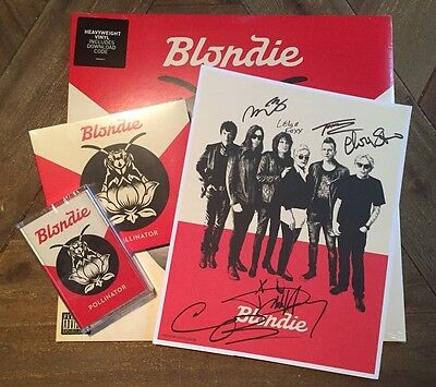 BLONDIE Pollinator DELUXE Album/CD w/ SIGNED Autographed Poster Debbie Harry!