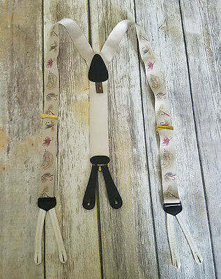 VTG Trafalgar Men's Silk Fishing Lure Braces Suspenders