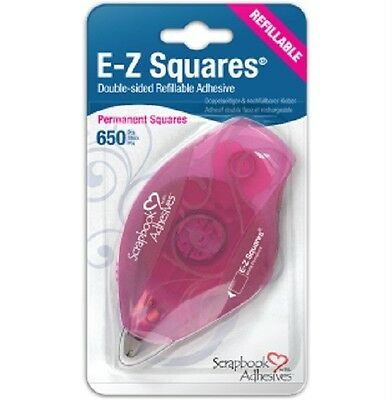 E-Z Runner  Squares  - Refillable Dispenser 650 squares  By Scrapbook-Adhesives