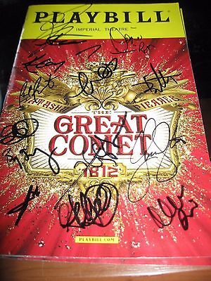 The Great Comet Broadway Cast Autographed Playbill LAST ONE !!