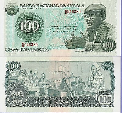 Angola 100 Kwanzas Banknote,14,8.1979 Uncirculated Condition Cat#111-A-6380