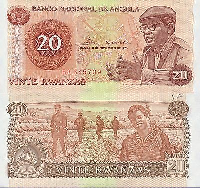 Angola 20 Kwanzas Banknote,11.11.1976 Uncirculated Condition Cat#109-A-5709