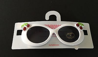 NWT Gymboree Cherry Baby 0-2 Years Girls White Glitter Cherries Sunglasses