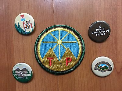 LTD TWIN PEAKS EXCLUSIVE 2017 SXSW IRON ON PATCH Designed by David Lynch+Pin Set