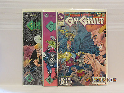 Lot of 3 Guy Gardner  #15 & Reborn #1 & #2 (DC 1992-93)