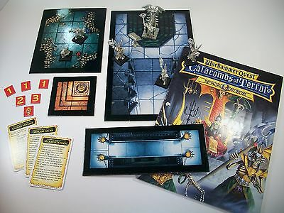 Catacombs of Terror with Miniatures. Missing box manual parts, good starter lot.