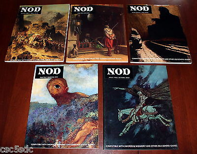 NOD RPG magazine Issue 1 2 3 4 5 by John Stater OSR AD&D D&D Swords & Wizardry
