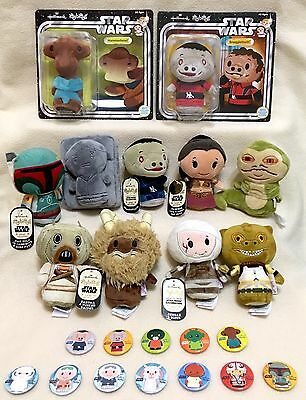 Hallmark Star Wars Set of 11 Convention Exclusive Itty Bitty Bittys &12 Pins NWT