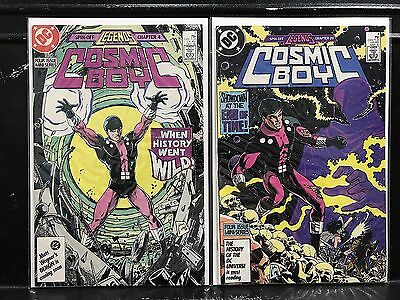 Lot of 2 Cosmic Boy #1 4 (1986 DC) Combined Shipping Deal!
