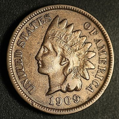 1909-S INDIAN HEAD CENT - With LIBERTY - VF VERY FINE  *KEY TO THE SET*