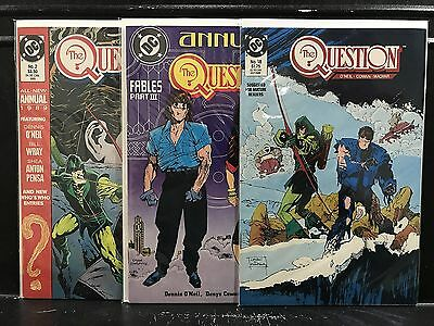 Lot of 3 The Question #18 Annuals 1 2 (1987 DC) Combined Shipping Deal!