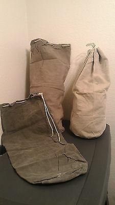 VTG 1930's - 50's Swedish Military Canvas Duffle-Sacks - Issued - Assorted