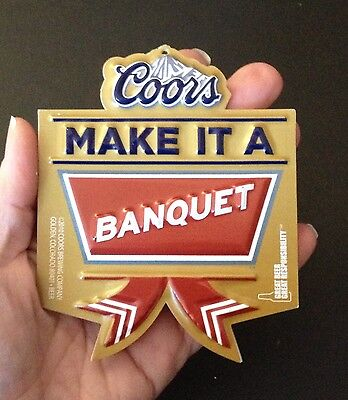 Beer Signs Coors Banquet Beer Christmas Ornaments-NOS-sold individually Man Cave