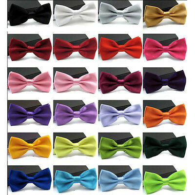 New Fashion Polyester Wedding Tuxedo Clip On Bow Tie Formal Party adjustable