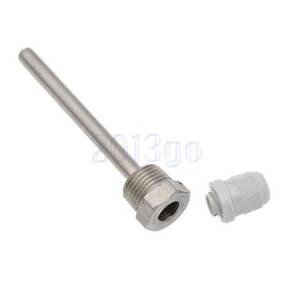 "Stainless Steel Thermowell 1/2""NPT Threads 50/100/150/200 Temperature Sensors CG"