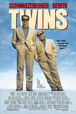Retro Twins Movie Poster Fridge Magnet - Arnold Schwarzenegger
