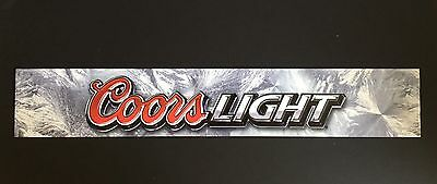 Coors Light Beer Signs Sturdy Vinyl Plastic Man Cave Party Bar