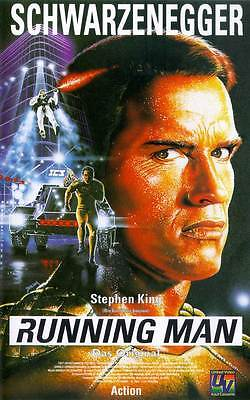 Retro Running Man Movie Poster Fridge Magnet - Arnold Schwarzenegger