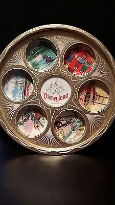 Disneyland vintage tray with scenes beautiful condition, shiny gold