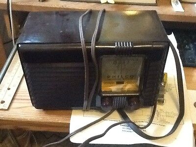 Vintage Philco Model TB3 Bakelite Cased TV Booster  UNKNOWN WORKING COND.lot c