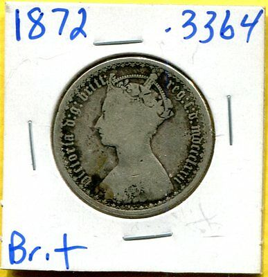 1872 Great Britain Silver Florin - Circulated