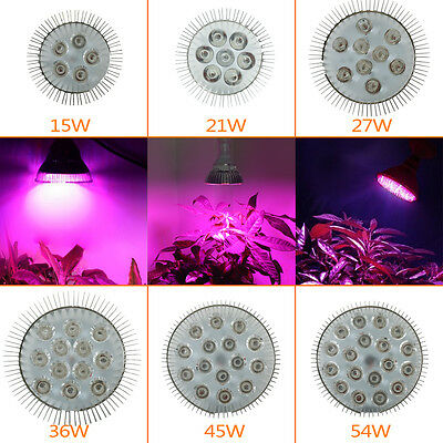 15W 21W 27W 36W 54W E27 LED Hydroponic Plant Grow Light Bulb Growing Lamp Indoor