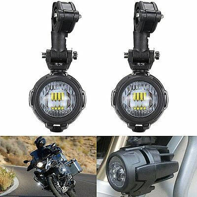 2 Pcs 40W LED Auxiliary Lamp Fog Driving Light For Motorcycle BMW K1600 R1200G