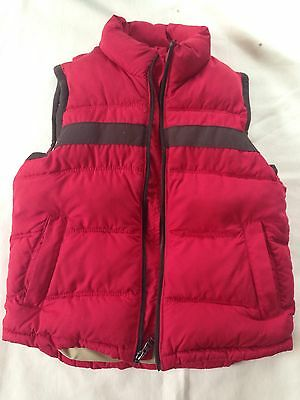 Gap Kids Boys Puffy Puffer Warm Vest Red Zip Up S 5-6