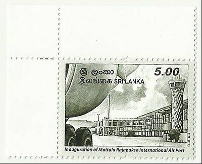 Sri Lanka 2013 Mnh Aviation Mattala International Airport Planes Tower Building