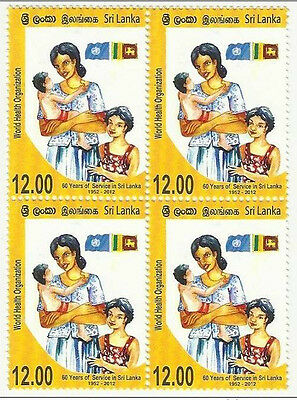 Sri Lanka 2012 MNH WHO World Health Organization, 60 Years Of Service
