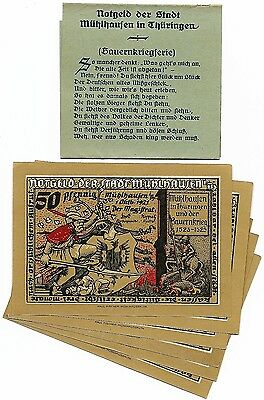 **1921 MUHLHAUSEN Germany Banknote - DRAGON SLAYER ~ Complete Set & RARE Wrapper
