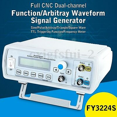 FY3224S Stable 24MHz Dual Channel DDS Function Signal Generator w/ Cable Kit