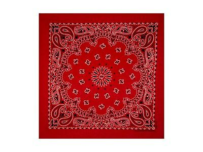 Red Paisley Bandana - 550mm x 550mm - Brand New