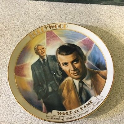 Jimmy Stewart Hollywood Walk of Fame Collectors Plate