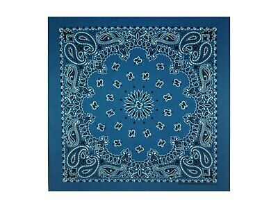 Royal Blue Paisley Bandana - 550mm x 550mm - Brand New