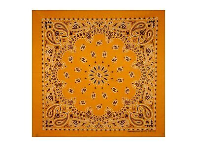 Orange Paisley Bandana - 550mm x 550mm - Brand New