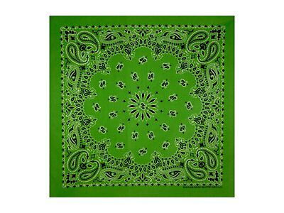 Lime Paisley Bandana - 550mm x 550mm - Brand New
