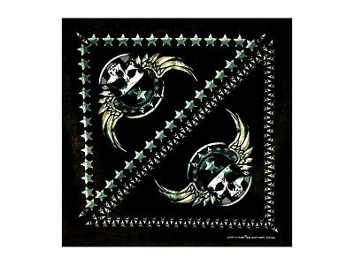 Wing Skull Bandana - 550mm x 550mm - Brand New