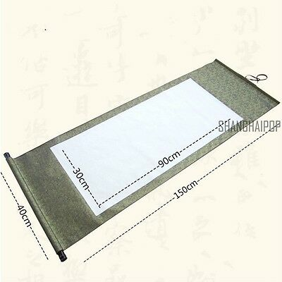 1X Blank Calligraphy Wall Hanging Scroll Japanese Chinese Rice Paper Wedding New
