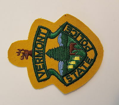 Vermont State Police Yellow Felt Patch VT  Early Issue