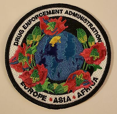 DEA Drug Enforcement Administration Europe Asia Africa Poppy Flowers Buds Patch