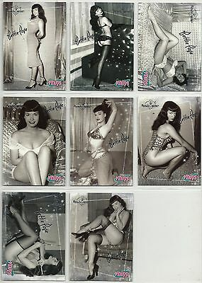 Bettie Betty Page 2006 Benchwarmer Classic Pinups Silver Foil 8 Card Lot Set